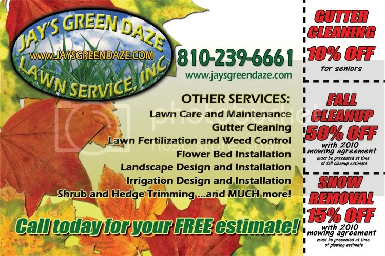 Some recent fall marketing material ideas - GopherHaul Landscaping