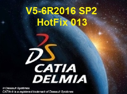 HotFix 013 for DS CATIA/DELMIA/ENOVIA V5-6R2016.SP2 Win64