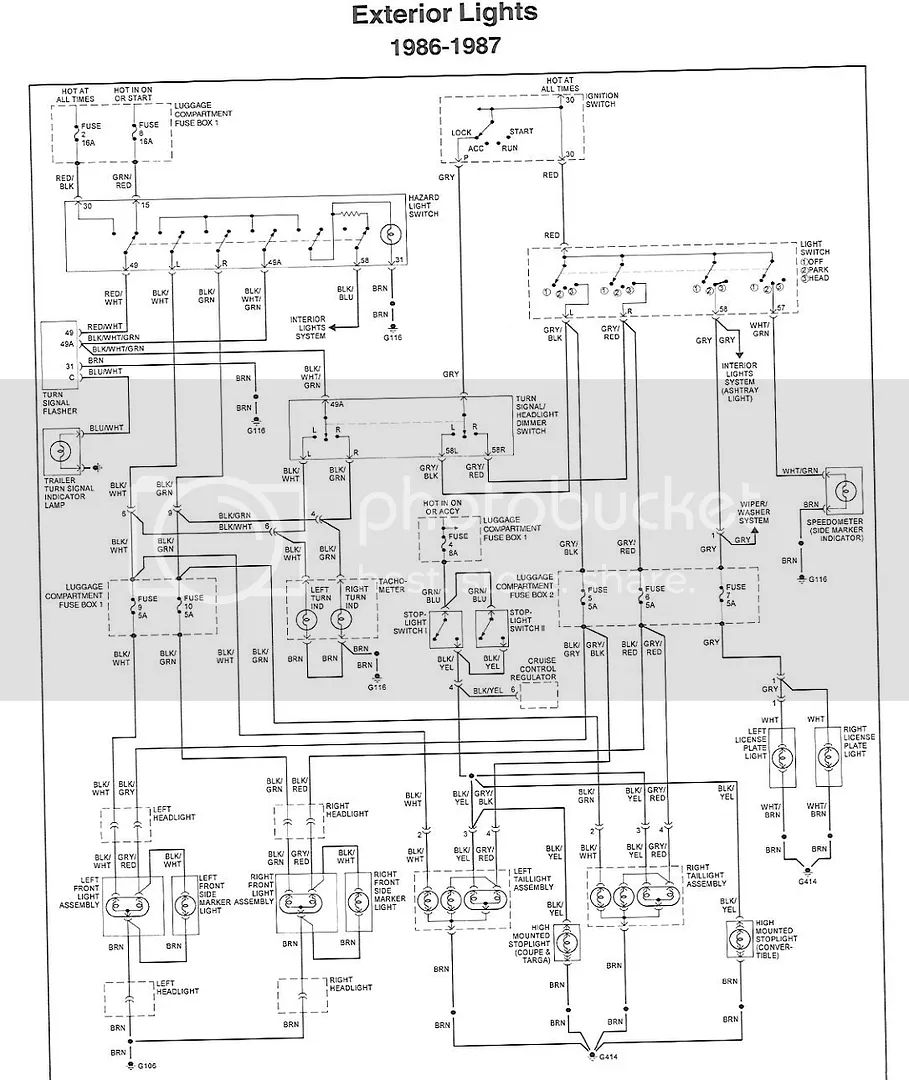 85 mustang headlight switch wiring diagram