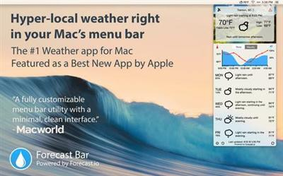 Forecast Bar 2.6.5 Mac OS X