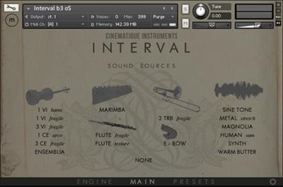 Cinematique-Instruments Interval (KONTAKT)