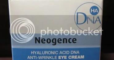 [試用] Neogence 玻尿酸DNA眼部彈力撫紋修護霜