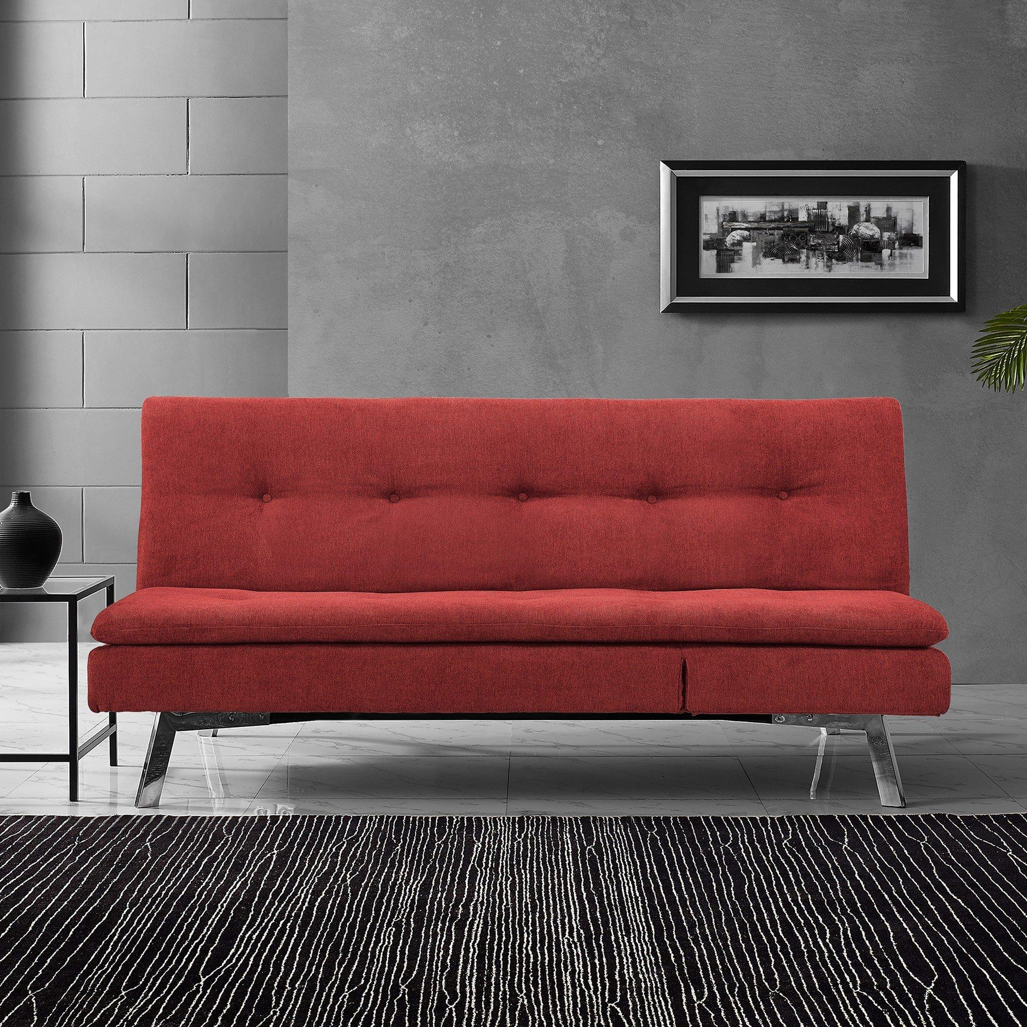 Rent To Own Sealy Sofa Convertibles Chicago Cozy Crimson Convertible Sofa With Chaise At Aaron S Today