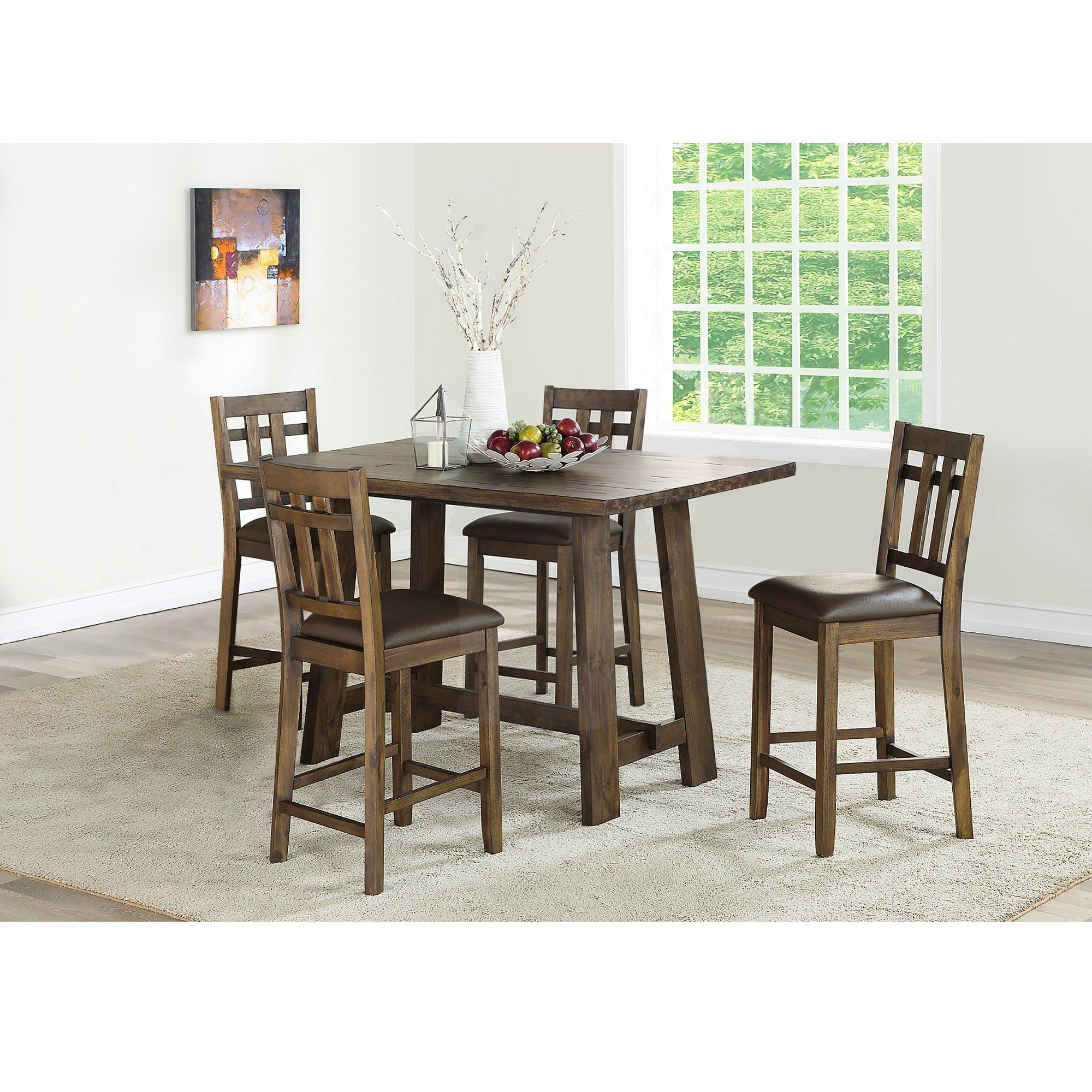 Rent To Own Steve Silver 5 Piece Saranac Counter Height Dining Room Collection At Aaron S Today