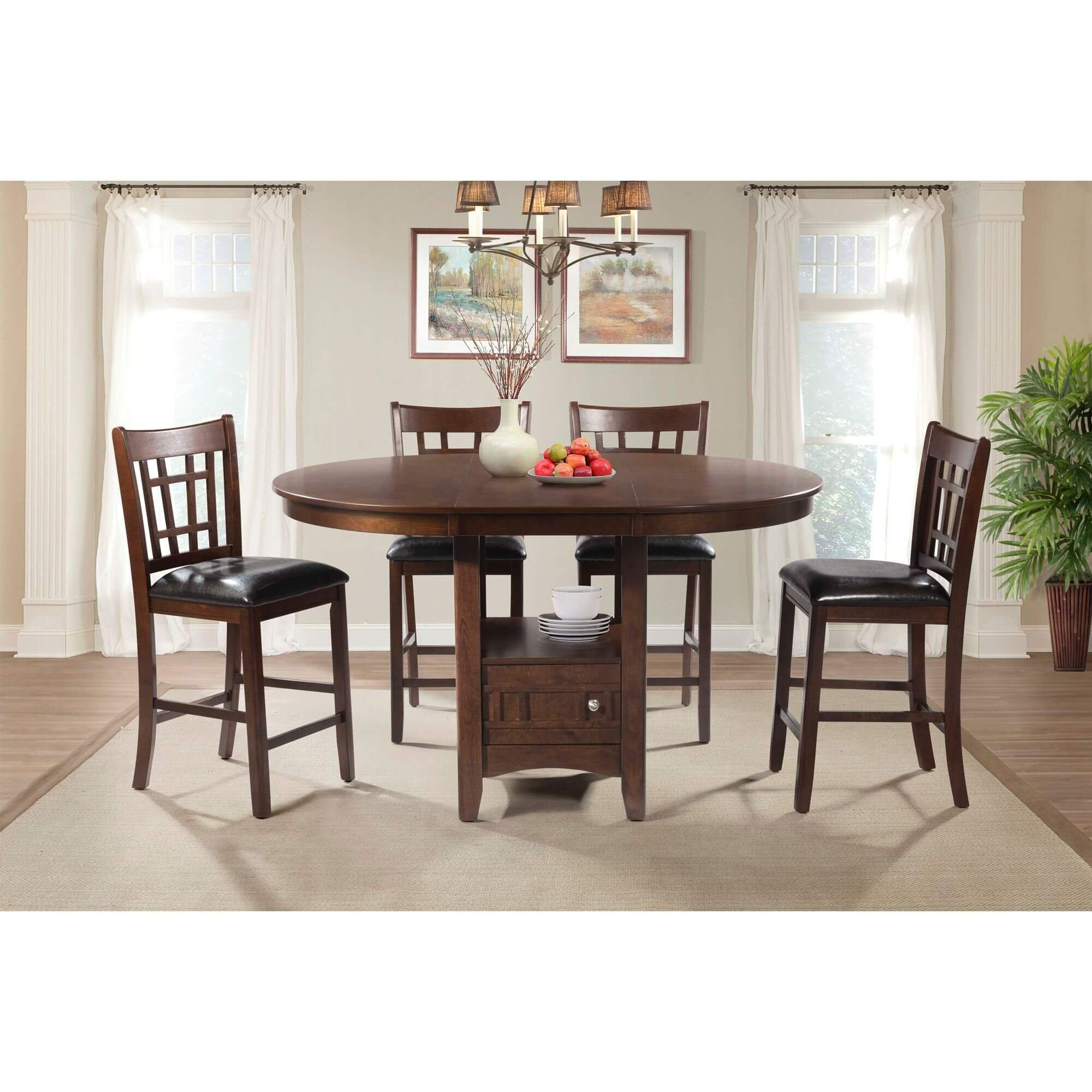 Rent To Own Elements International 5 Piece Max Pub Table Dining Room Collection At Aaron S Today