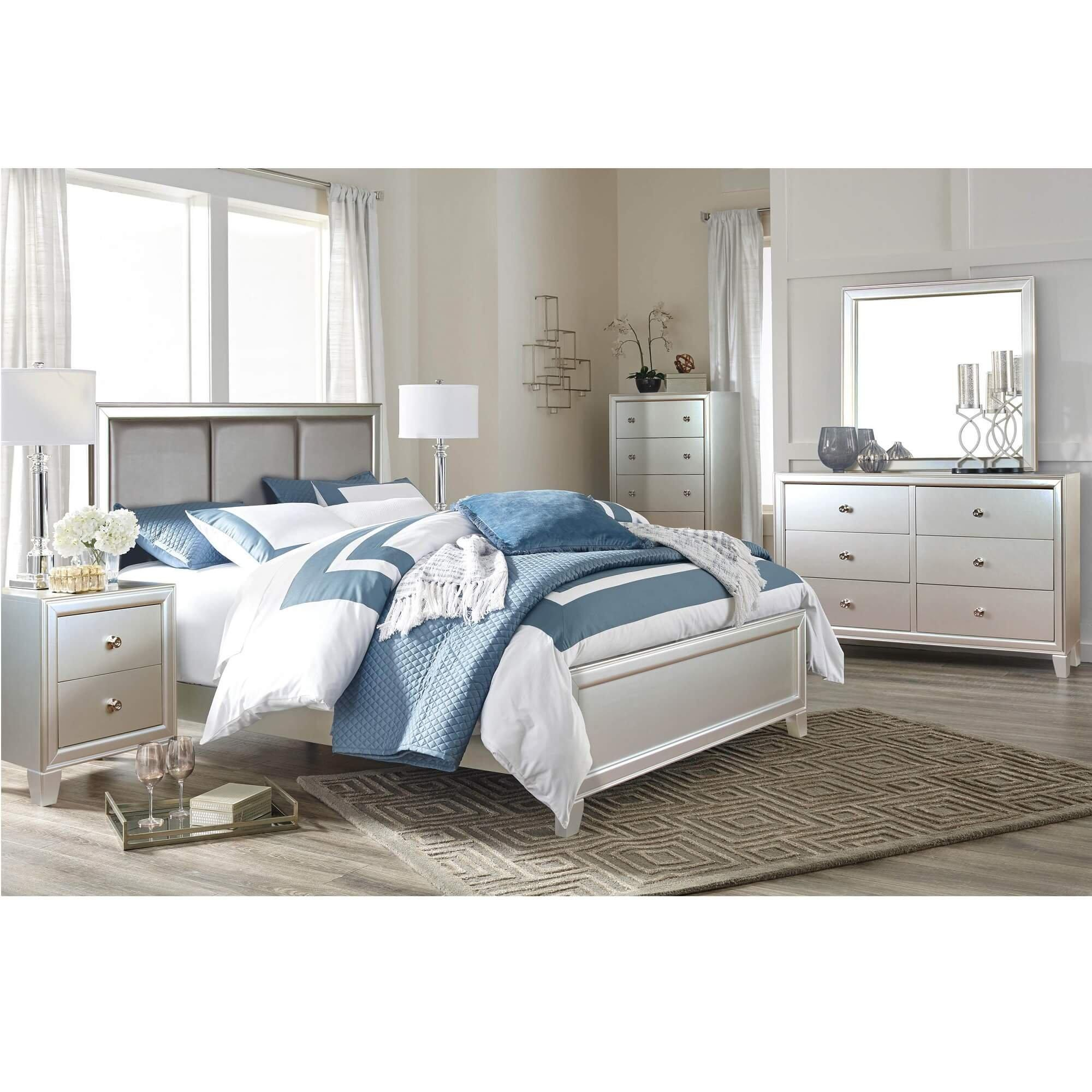 Rent To Own Riversedge Furniture 7 Piece Nova King Bedroom Set At Aaron S Today
