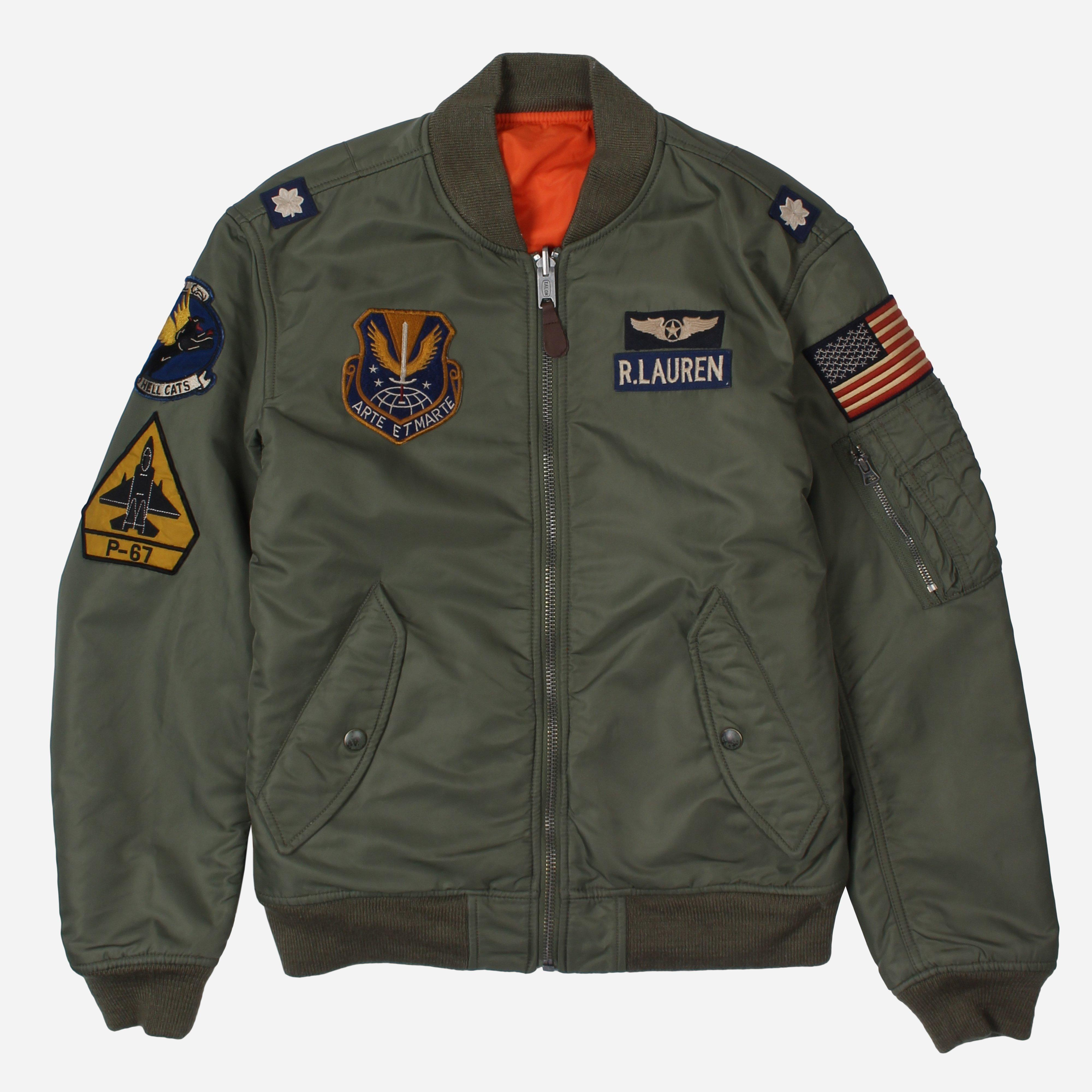 Arte Et Marte Dimicandum Polo Ralph Lauren Bomber Jacket The Hip Store