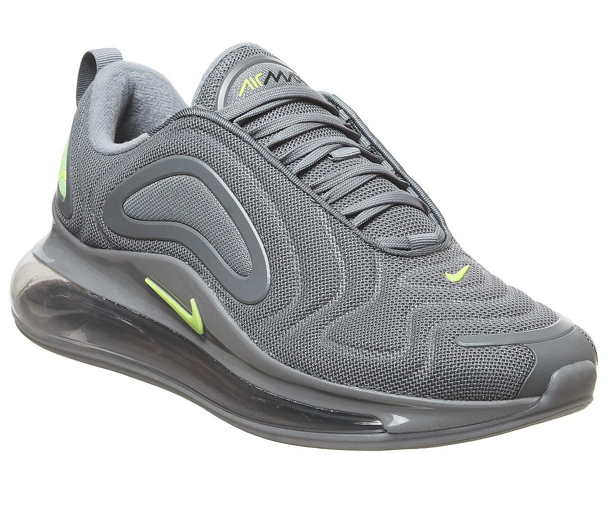 Nike Zoom Grey And Green Air Max 720