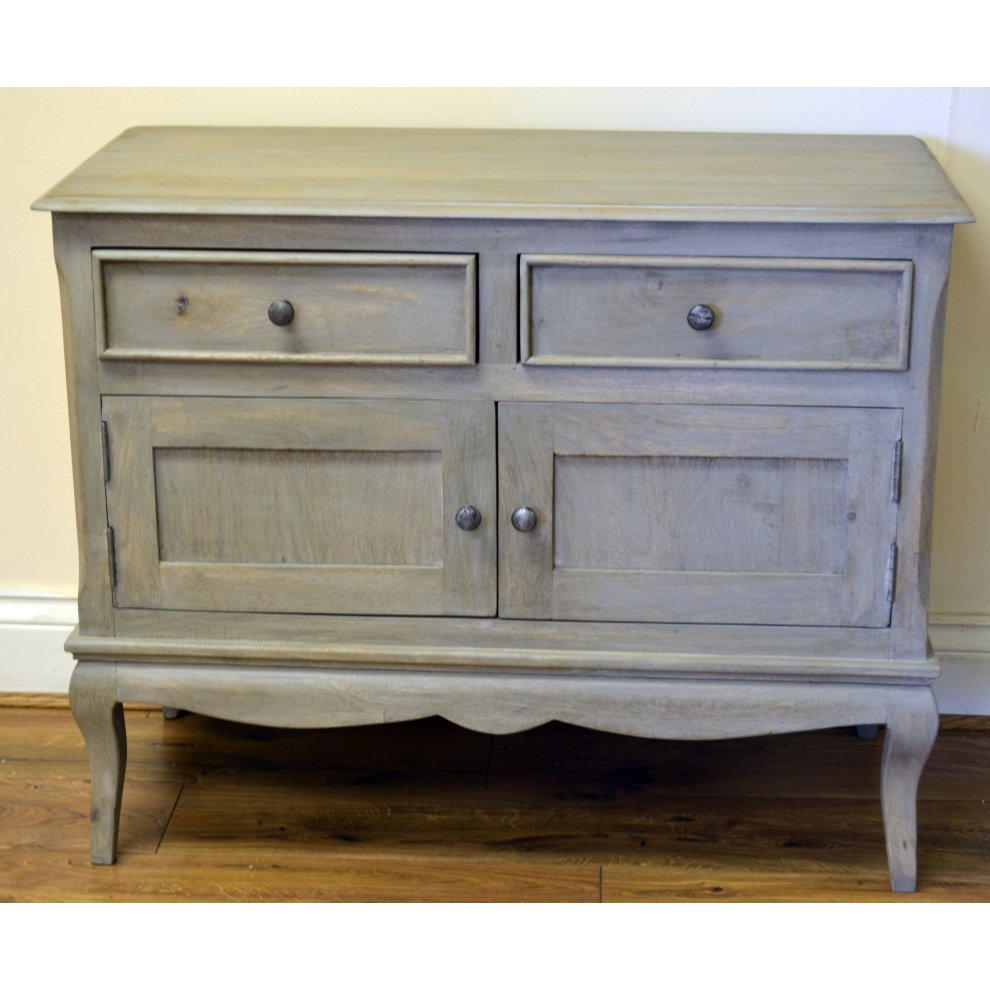 Sideboard Shabby Chic Bourdeilles 2 Door Sideboard Cupboard Cabinet Solid Shabby Chic