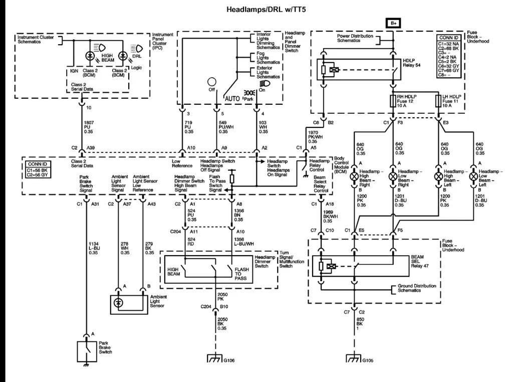2008 chevrolet colorado wiring diagram