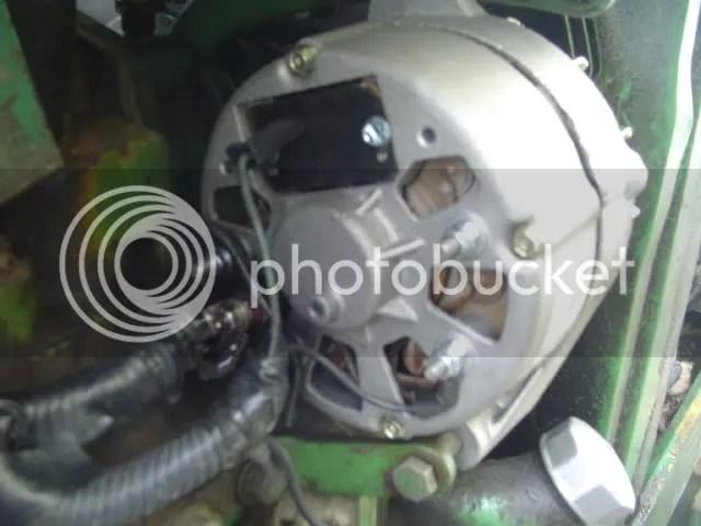 JD 2020 12 V alternator install - Yesterday\u0027s Tractors