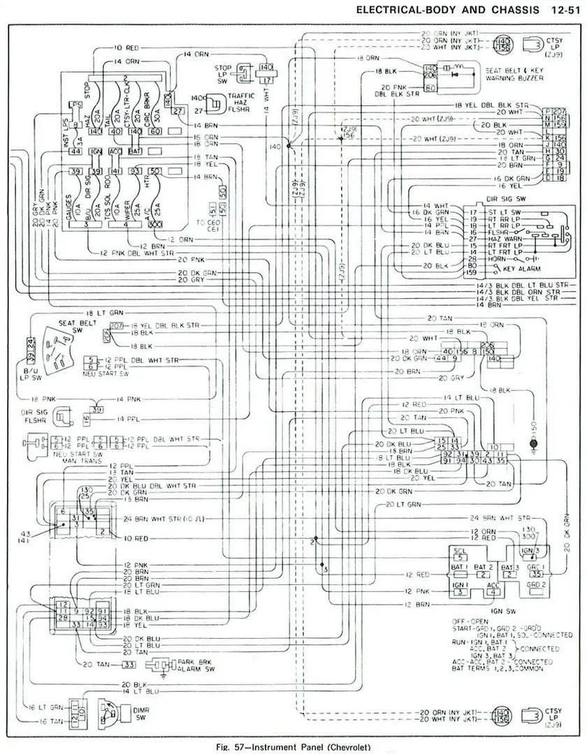 1968 el camino wiring diagram for ignition