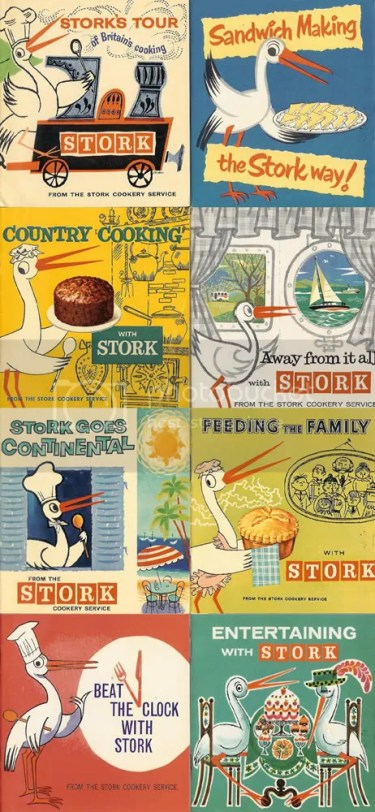 collection of Stork margarine cook books