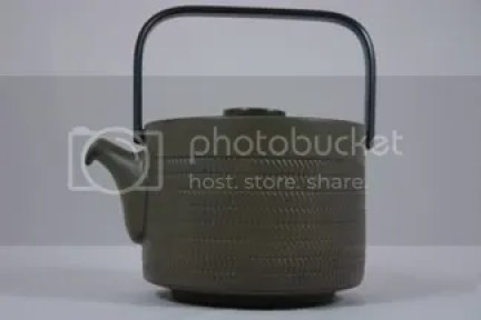 Vintage Denby teapot 'Chevron' pattern