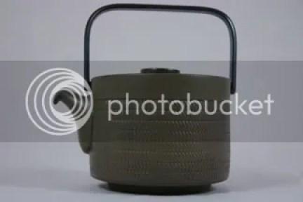 Vintage Denby Pottery teapot 'Chevron' pattern