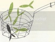 Bill Charmatz illustration of fish in a fryer basket