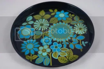 vintage painted tin tray