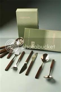 "vintage Lundtofte 'Opus"" cutlery set"