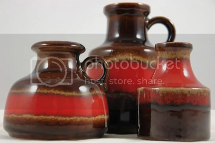 Trio of West German vases