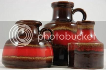 Trio of West German vases