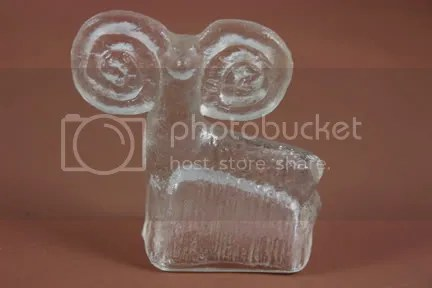 Vintage Scandinavian glass ram