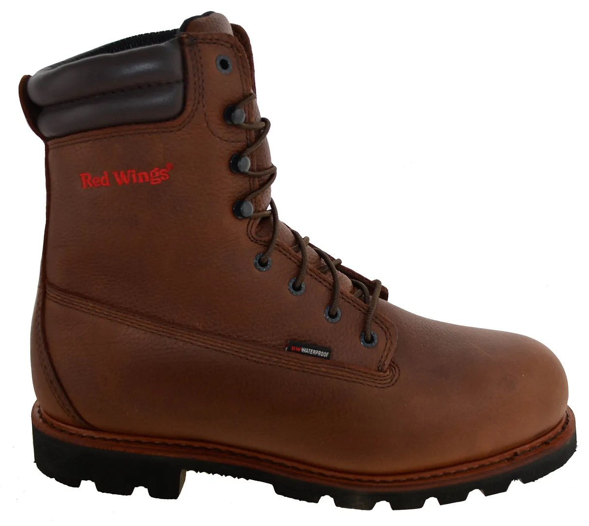 Mens Red Wing 6quot Insulated Waterproof Steel Toe Work Boots