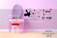 Baby Minnie Mouse Childrens Bedroom Wall Sticker Wall Art ...