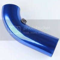 "Blue Aluminum 75 mm/3"" Universal Cold Air Intake Hose Pipe ..."