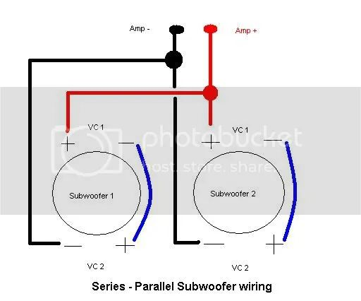 re how to wire mono block amp to 2 subs