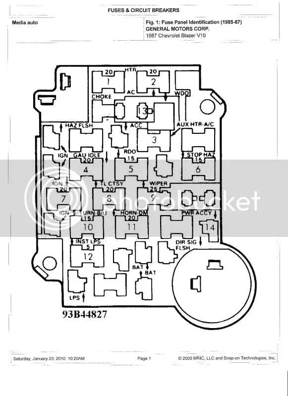 K5 Blazer Fuse Box Wiring Diagram