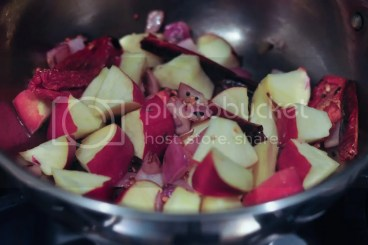Apple sundried tomato chutney
