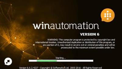 Softomotive WinAutomation 6.0.2.4227 (x86/x64) 170406