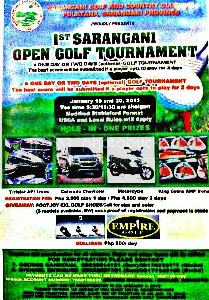 Sarangani Golf Tournament