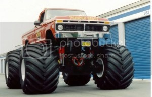 jacked up trucks, who's is biggest?
