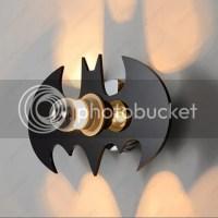 5W LED Batman Wall Sconce Light Fixture Indoor Lamp Kids ...