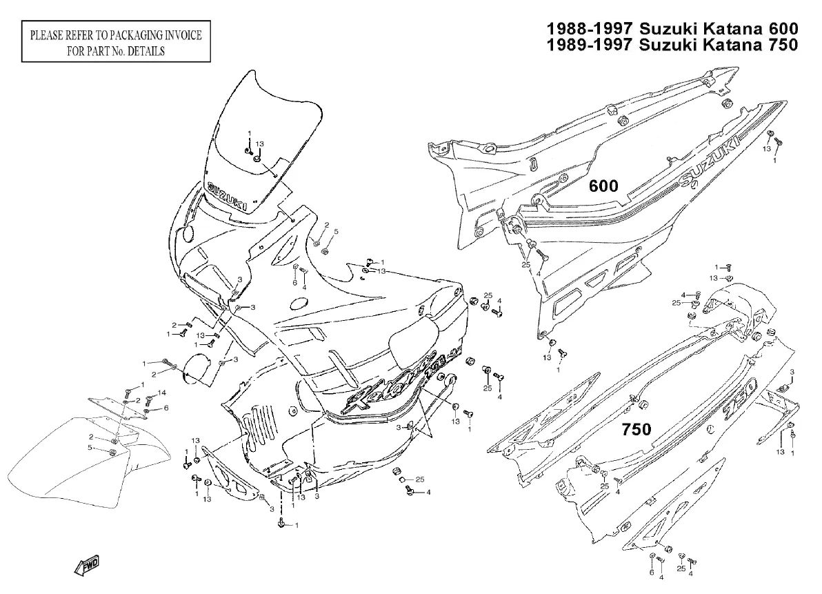 sportbike parts of diagram