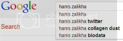 Keyword Hanis Zalikha Google Search Engine