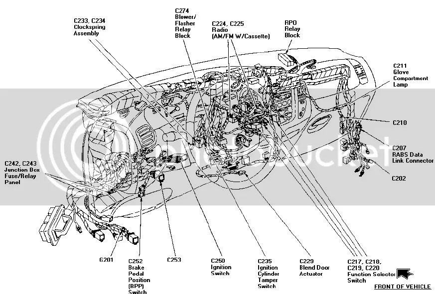 97 c1500 under dash wiring harness