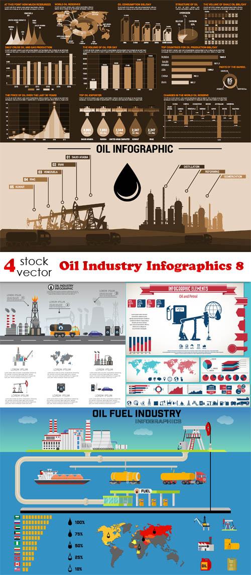 Vectors - Oil Industry Infographics 8