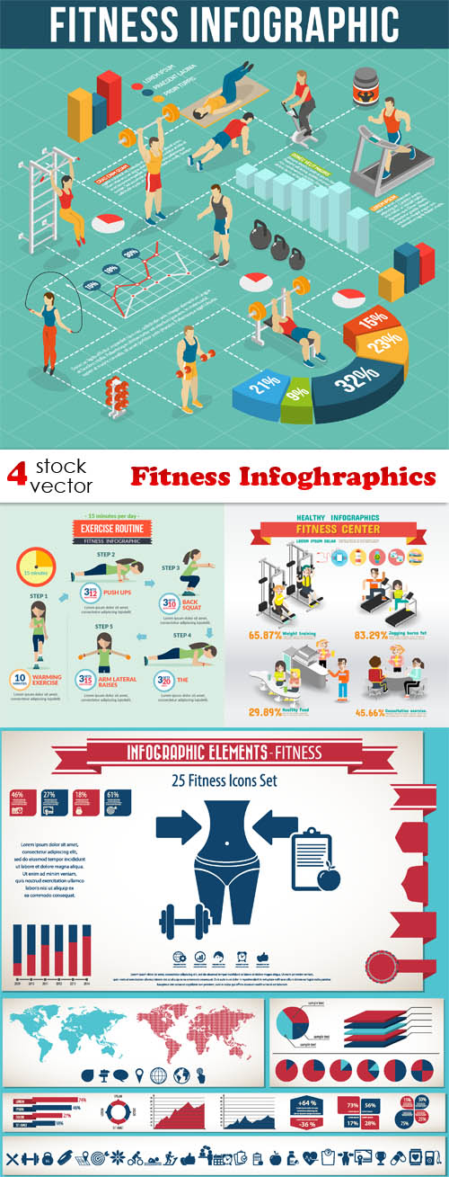 Vectors - Fitness Infoghraphics
