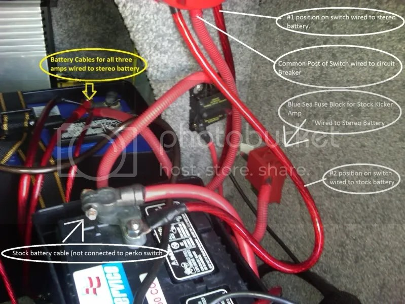 Engine starts with Perko switch in the \