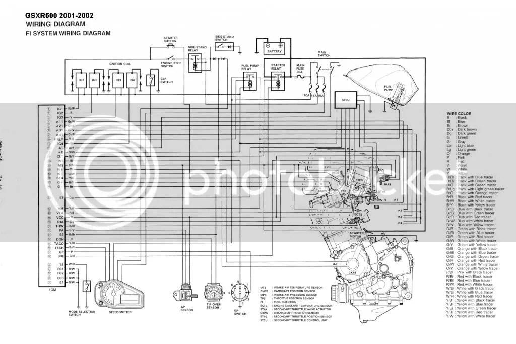 Suzuki Gsx R 600 Wiring Diagram Better Wiring Diagram Online