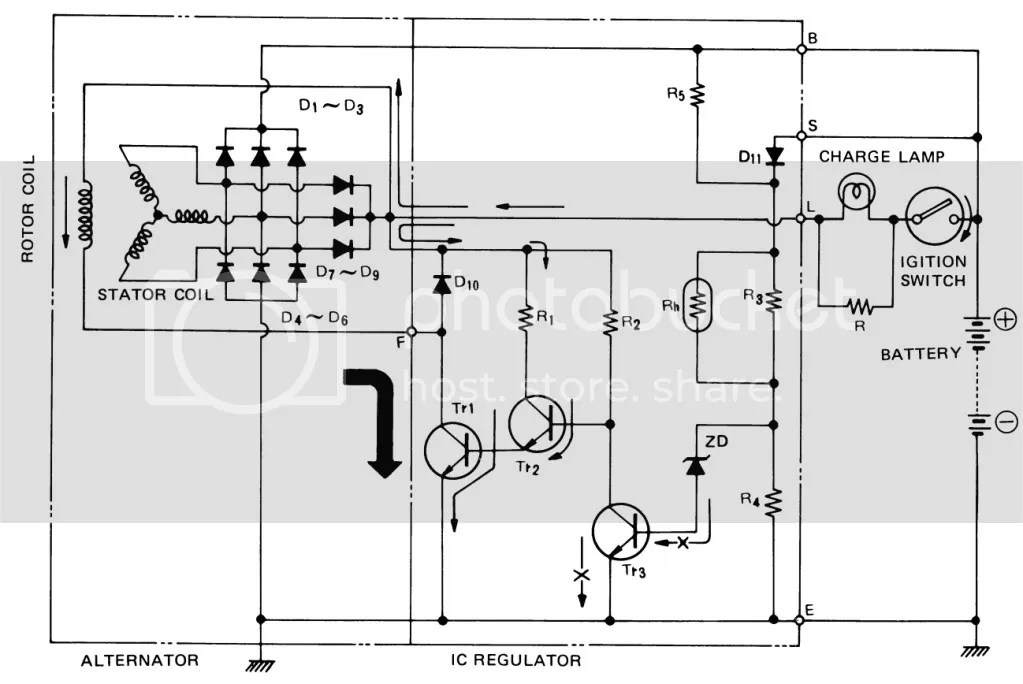 Chevy One Wire Alternator Diagram Electrical Circuit Electrical