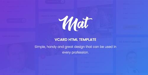mat vcard resume template nulled