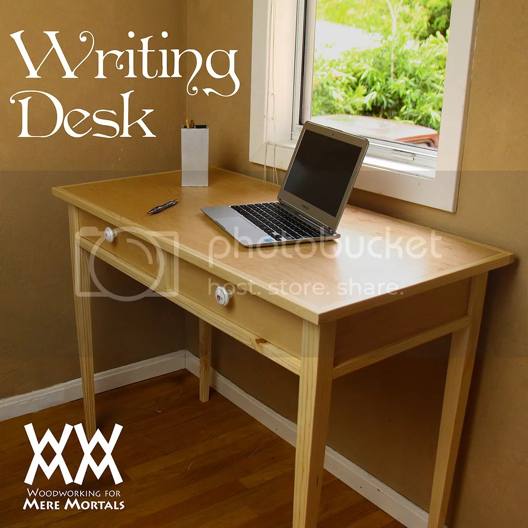 Writing Table Plans Writing Desk Woodworking For Mere Mortals