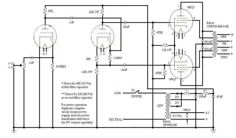 rca tube amp schematics