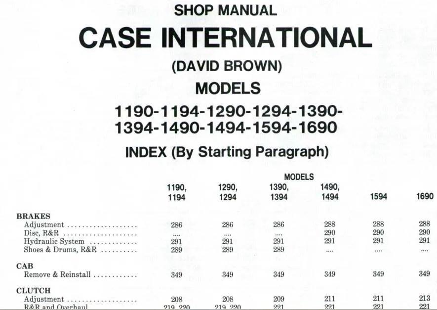 Case David Brown 1390 Wiring Diagram Free Download \u2022 Ady9