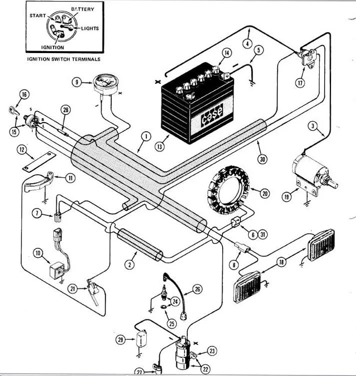 INGERSOLL CASE 222 WIRING DIAGRAM - Auto Electrical Wiring Diagram