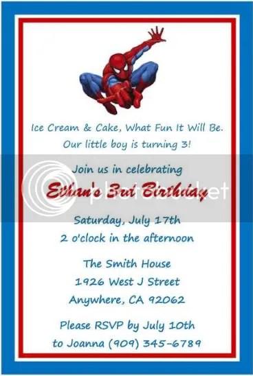 spiderman party invitations free printable yglesiazssa