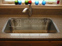 Nobody does drop-in sink on stone countertop? Really?